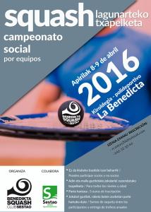 Campeonato social benedikta Squash Club 2016
