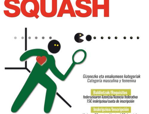 27 y 28 de octubre, campeonato de la Liga Vasca de Squash en la Benedicta