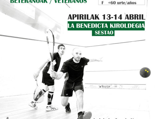 13 y 14 de abril, campeonato de Euskadi de veteranos en La Benedicta de Sestao