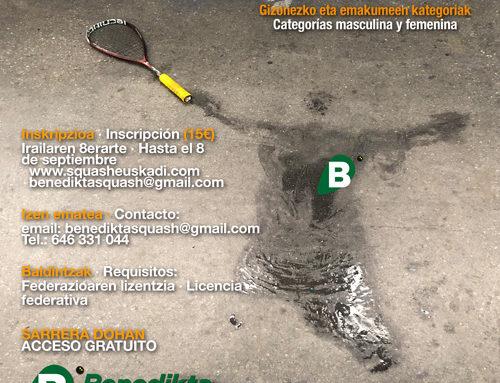 13 y 14 de septiembre, Campeonato de liga vasca en la Benedicta (cuadros y horarios)