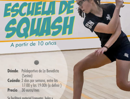 En marcha la Escuela de Squash del Benedikta